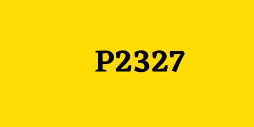 codigo P2327