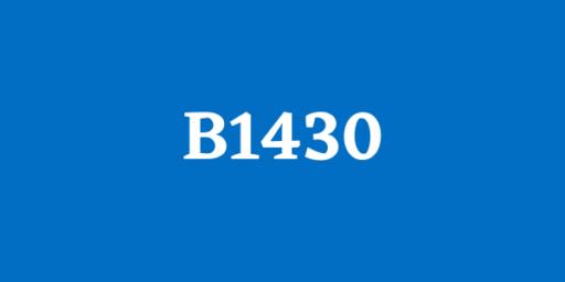 código B0300